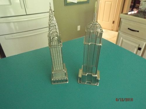 Empire State Building and Chrysler Building Wire Model