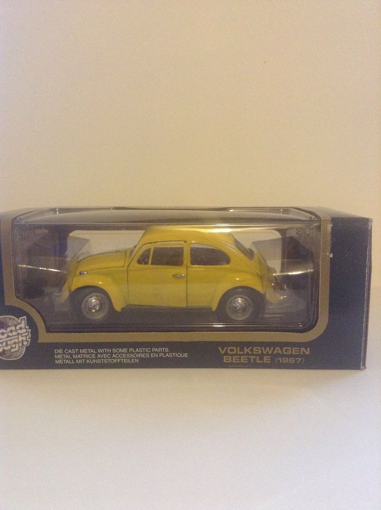 New Road Tough Yellow 1967 Volkswagon Beetle 1 18 Scale Dicast Car Roadtough