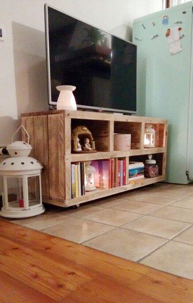 mobile tv con legno di bancale fatto a mano di GARAGE by silvio su ...