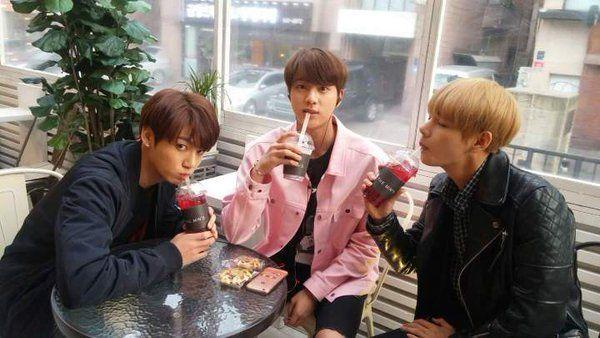 Jungkook, Jin, V ❤