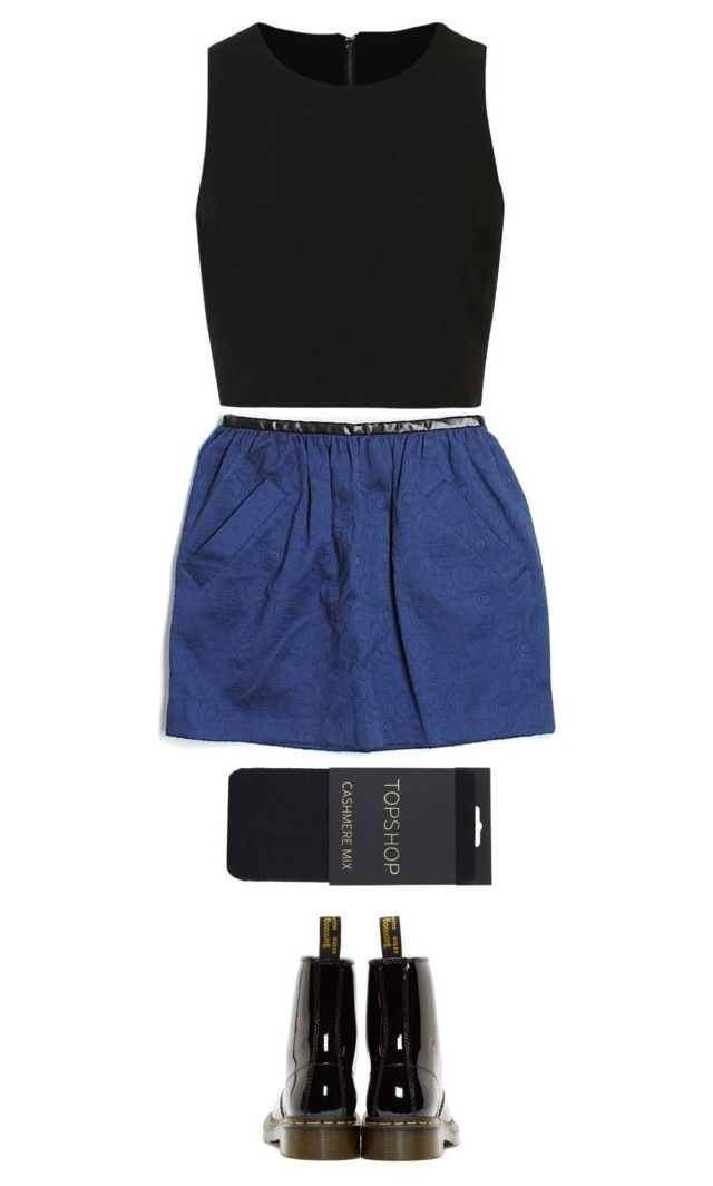 """ science finals today xc "" by casey-yolo ❤ liked on Polyvore featuring Topshop and Dr. Martens"