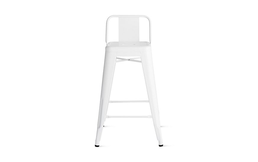 Groovy Tolix Marais Counter Stool With Low Back Asti Outdoor Squirreltailoven Fun Painted Chair Ideas Images Squirreltailovenorg