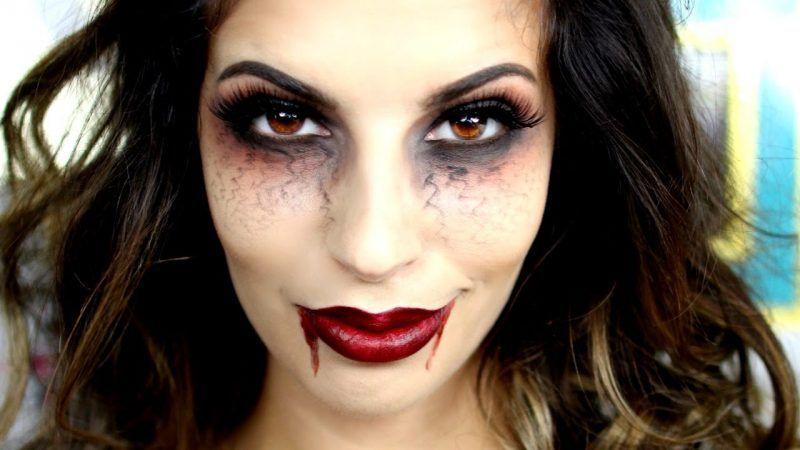 Schminken Zu Halloween Vampir Make Up Anleitung Halloween Makeup