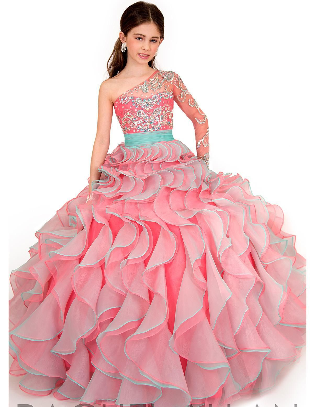 Free shipping, $106.99/Piece:buy wholesale 2014 Hot Sale Fashion Summer Sheer Tulle Crystal Girl's Pageant Dresses Organza Cascading Ruffles Sweep Train kids Party Prom Ball Gowns from DHgate.com,get worldwide delivery and buyer protection service.