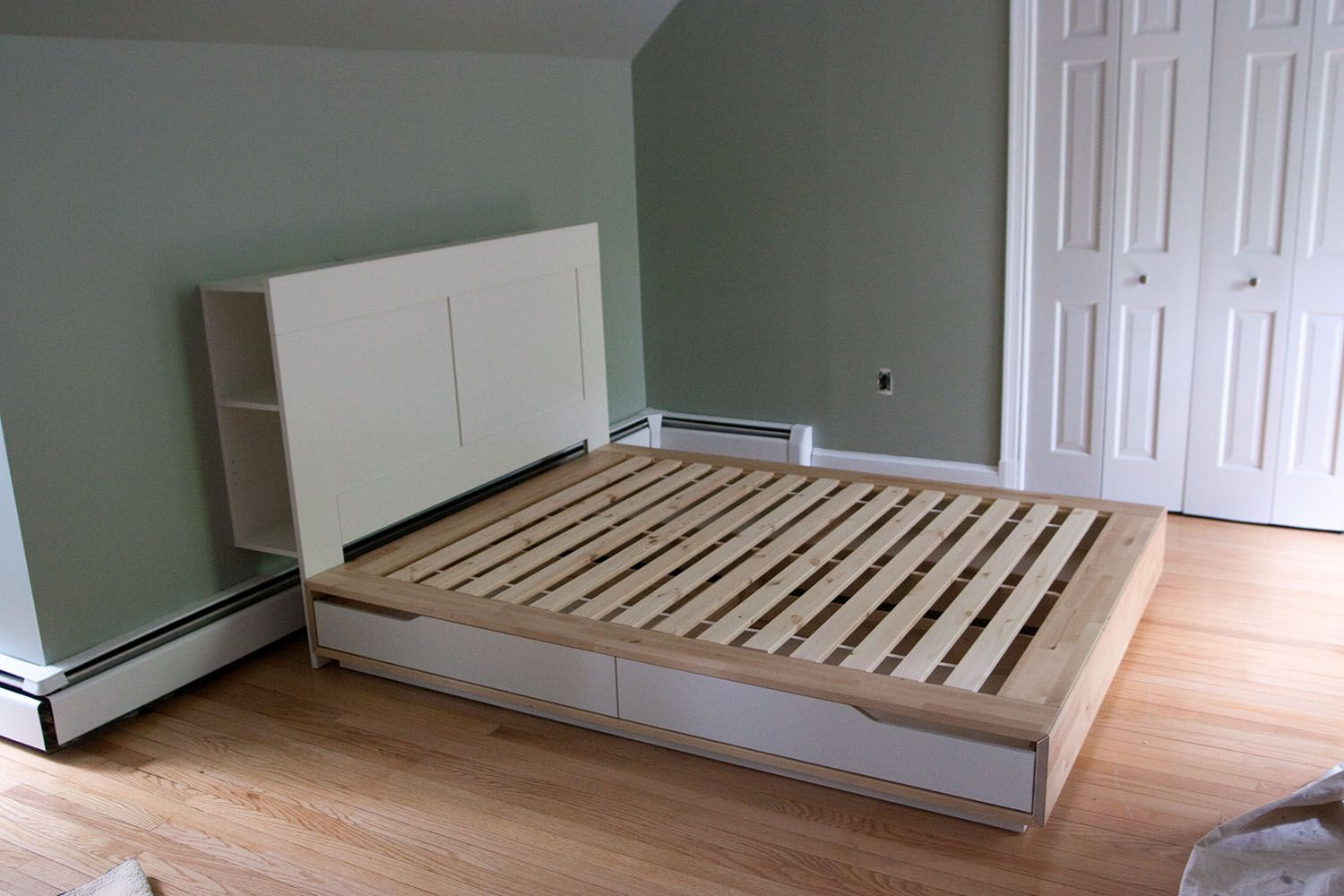 Ikea Mandal Bed in Birch, Full size, cost 329 Ikea