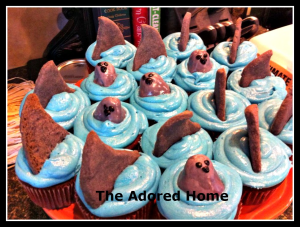 Shark Week Cupcakes #sharkweekfood Shark Week Cupcakes #sharkweekfood