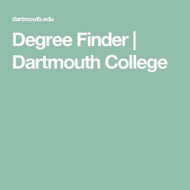 Degree Finder | Dartmouth College