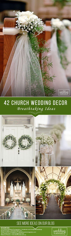 Wedding decorations list   Breathtaking Church Wedding Decorations  Church wedding