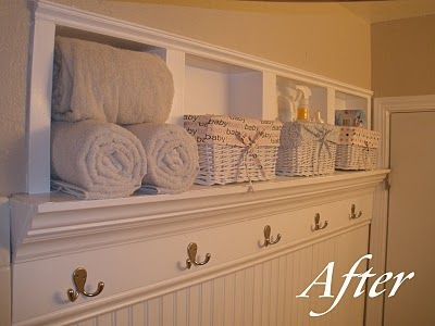 DIY Storage Cubbies Between the Studs (Tutorial) : perfect in the bathroom for towel storage!