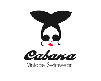 One of my first logo marks created back in college - Cabana Vintage Swimwear. #vintage #graphicdesign #logo