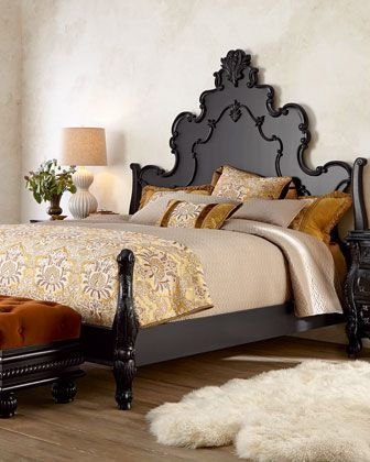 Nicolette Black Bedroom Furniture | Beds and bedding | Pinterest