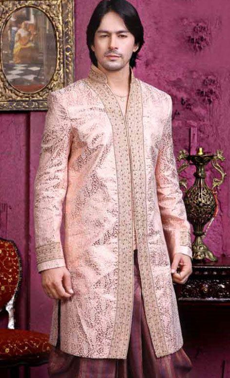 Mens Wedding Wear Dresses Pakistani Indian Designs Wine Pink