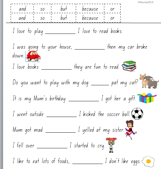 Grammar Worksheets Conjunctions 3 – Conjunctions Worksheets