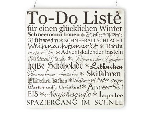 xl shabby vintage schild t rschild to do liste winter holz landhaus impression weihnachten. Black Bedroom Furniture Sets. Home Design Ideas