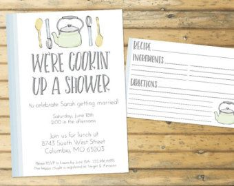 kitchen theme bridal shower invitation by karlykdesignshop on etsy