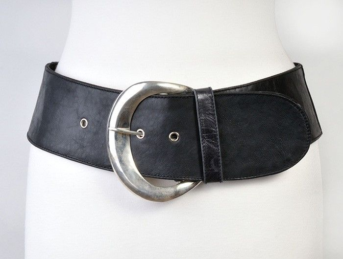 Navy wide belt, Jocasi moon belt, inch leather, plus sizes available,  silver buckle UK