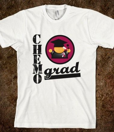 Throat Cancer Chemo Grad by cancerapparelgifts.com