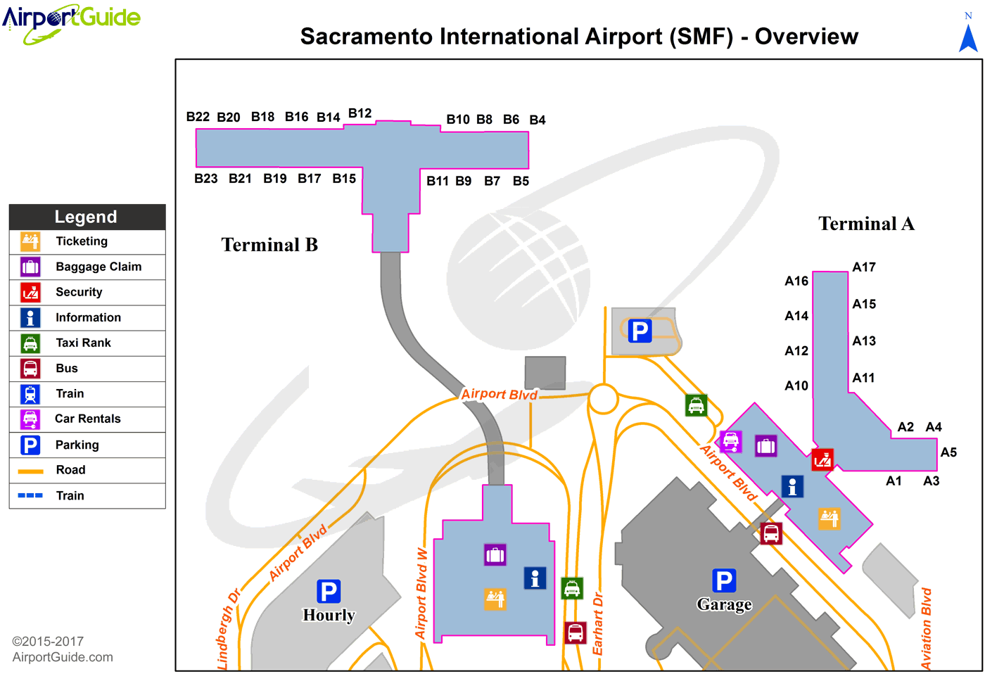 map of sacramento airport Sacramento Sacramento International Smf Airport Terminal Map map of sacramento airport