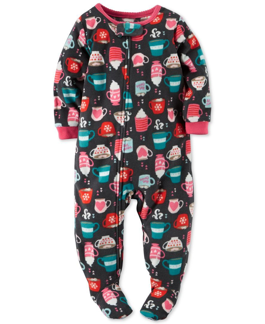 0f2d7978c Carter's Toddler Girls' One-Piece Hot Cocoa Footed Pajamas ...