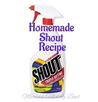 Homemade Shout Stain Remover Homemade Shout Shout