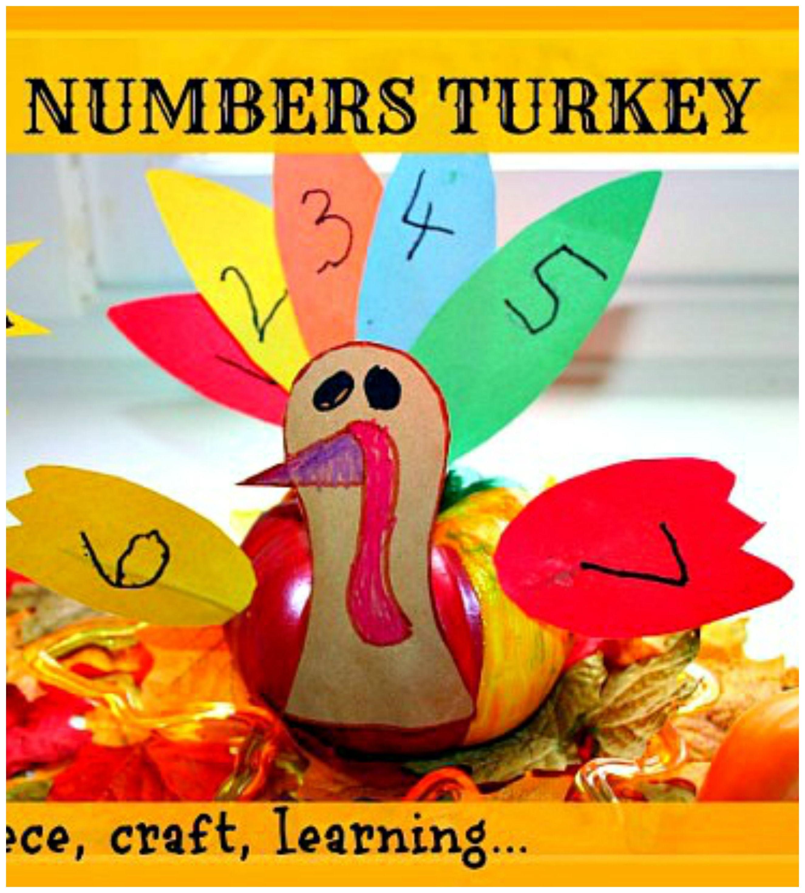 Simple Math Turkey Craft