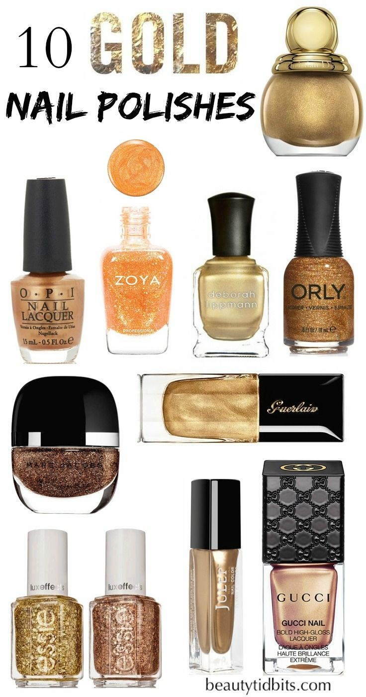10 New Gold Nail Polishes to Try Now | Pintar, Colores de temporada ...