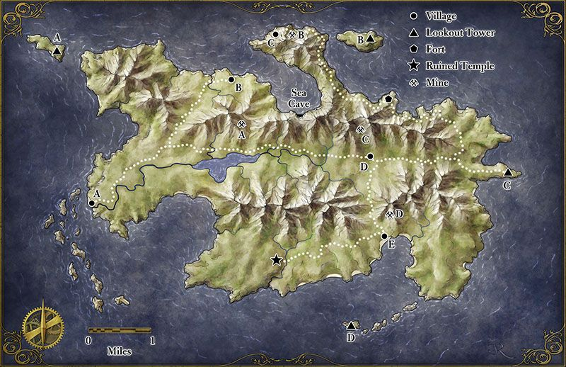 Zeitgeist Maps for Island at the Axis of the World Fantasy island - new best world map download