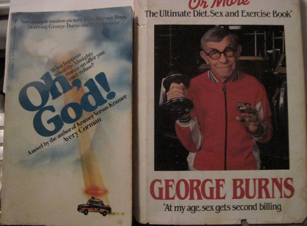 George Burns Humor Books 2 Fer Almost 100 Signed And Oh God