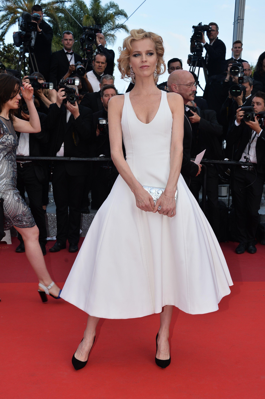 Eva Herzigova in Christian Dior Couture - Cannes 2016 - La Fille Inconnue Red Carpet