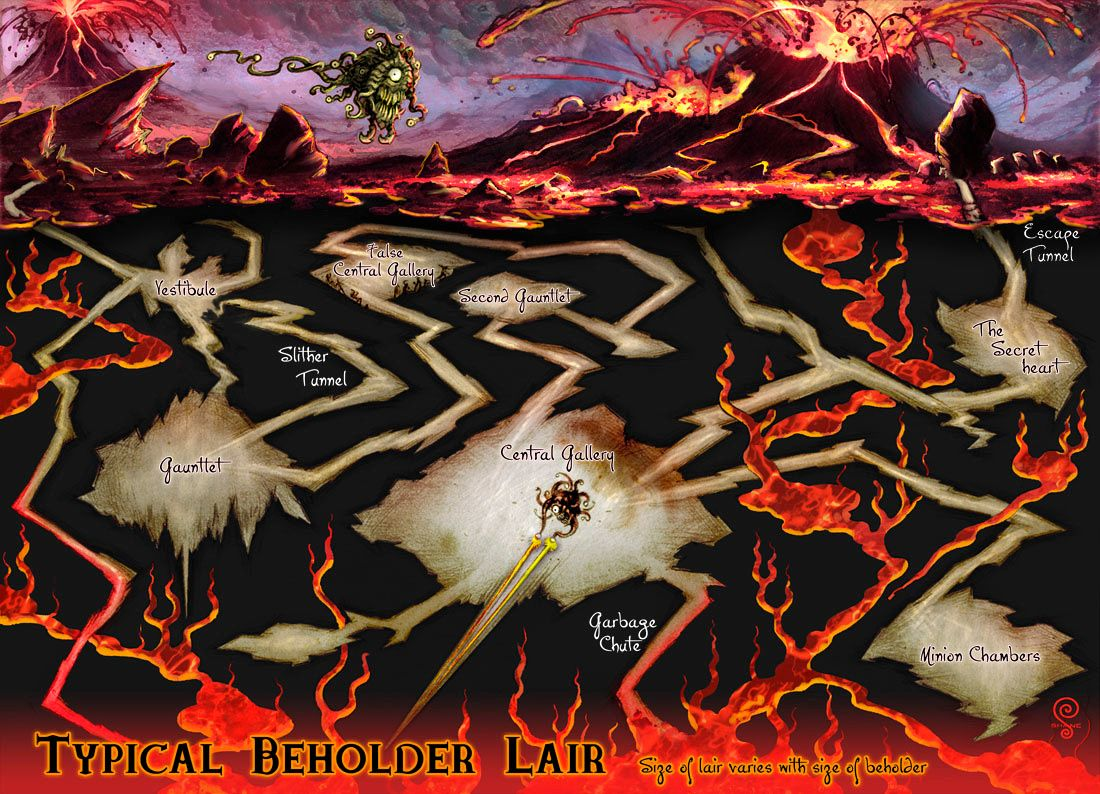 Beholder Lair | D&D Maps in 2019 | Dungeon maps, Map ...