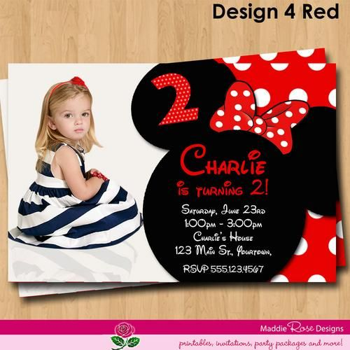 17 Best images about Invitaciones – Minnie Mouse Invitation Cards