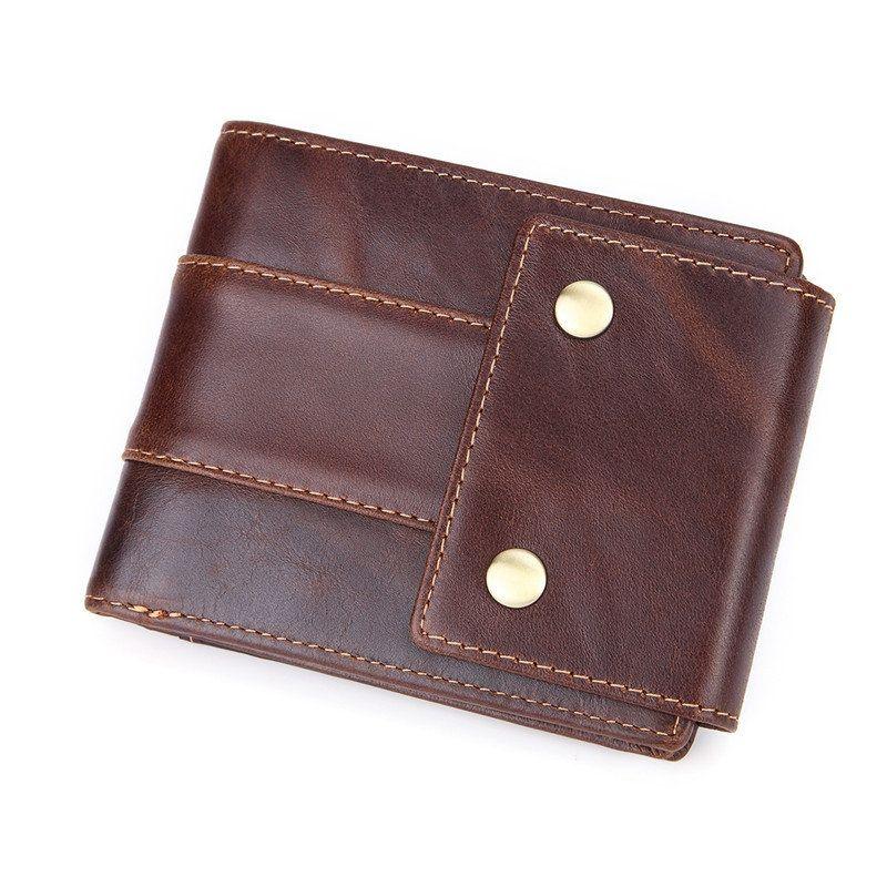 Cowhide genuine leather vintage 11 card slot wallet multi
