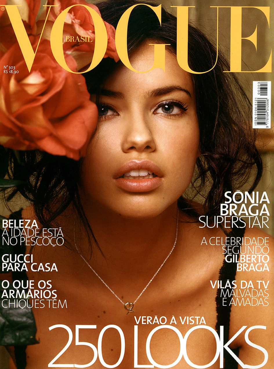 Adriana Lima Throughout the Years in Vogue   Vogue Brasil Best ... 361407e21e