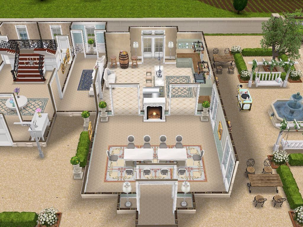house 108 french chateau ground level sims simsfreeplay