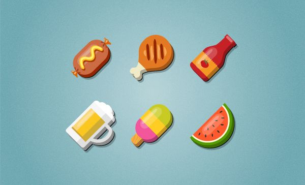 Illustrator Tutorials: Create a Set of Food Icons | By Diana Toma ...