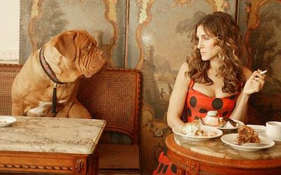 carrie in paris bakery with dog - Google Search