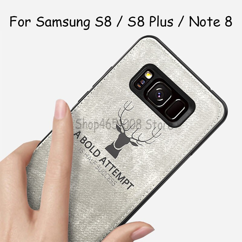 For Samsung S8 Phone Case For Samsung Galaxy S8 Plus Soft Edge Christmas Deer Cloth Phone Cases Cover For Sansung Galax Note 8 Samsung S8 Phone Cases S8 Phone Cases Samsung
