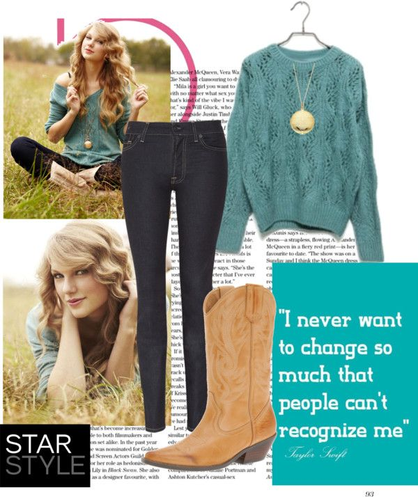 Taylor Swift Inspired Country Girl Outfit By Natihasi On Polyvore Except For The Skinny Jeans Be Country Girls Outfits Casual Country Outfits Girl Outfits