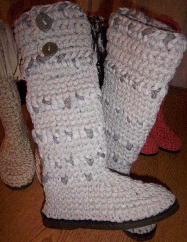 BOTAS crochet TEJIDAS Knit  crochet BOTAS for feet  leg Pinterest 805897