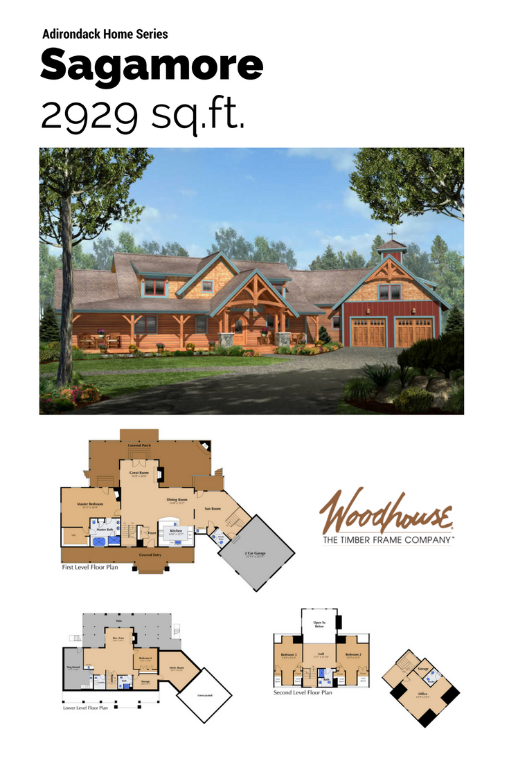 Timber Stone Log Siding And Twig Details Typify The Adirondack Style Initiated By The Industrialists And F House In The Woods Timber Frame House Floor Plans