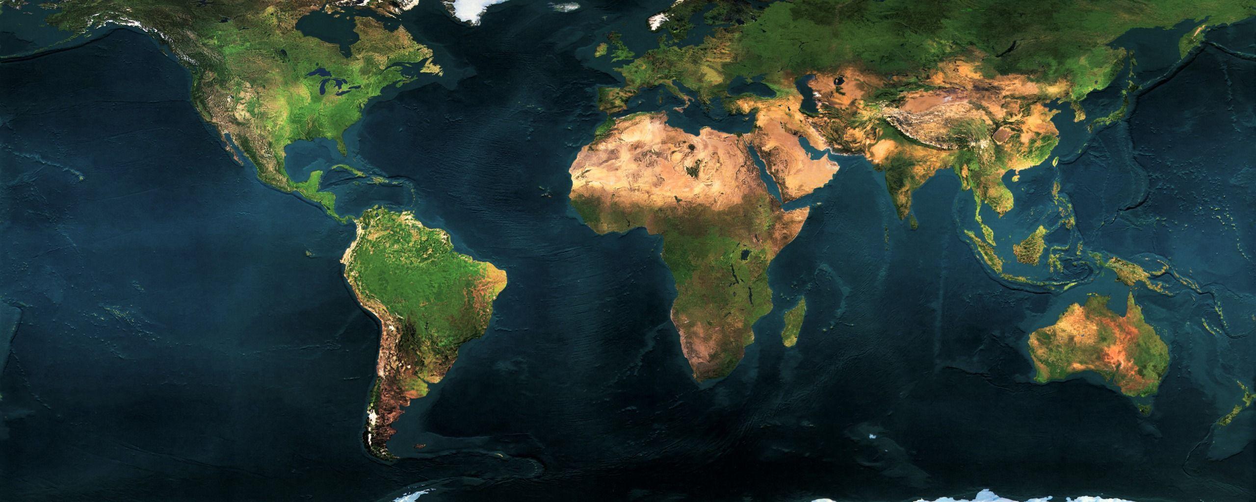 Satellite World Map Via WallBasecc IMaps Pinterest - World map satellite hd
