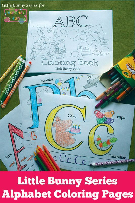 Little Bunny: Alphabet Coloring Pages | Alphabet tracing, Learning ...