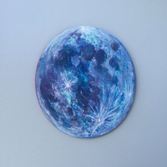 Wooden Moon Wall Art for the bedroom nursery or by WildWallThings
