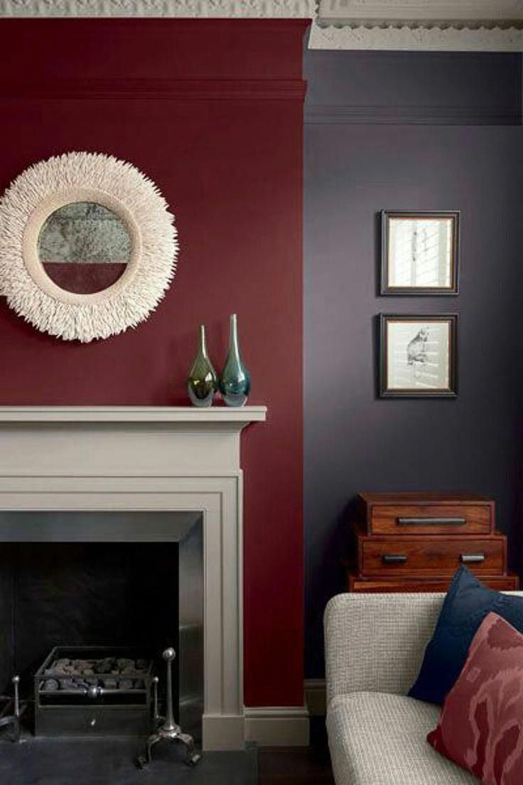 Best Living Room With Lilac Walls And Burgundy Accent White 640 x 480