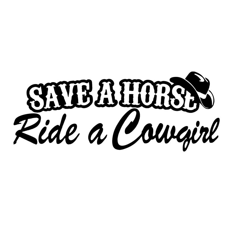 Save A Horse Ride A Cowgirl Funny Adult Car Truck Window
