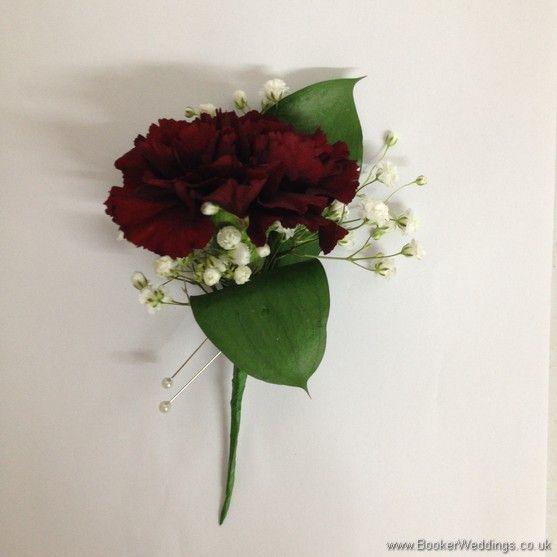 Bridesmaid Buttonhole Burgundy Artificial Wedding Flowers Brides Bouquet