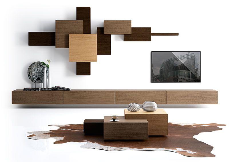 Salon 4 cajones Moderno Cubista II Material Madera de Roble Existe - muebles en madera modernos
