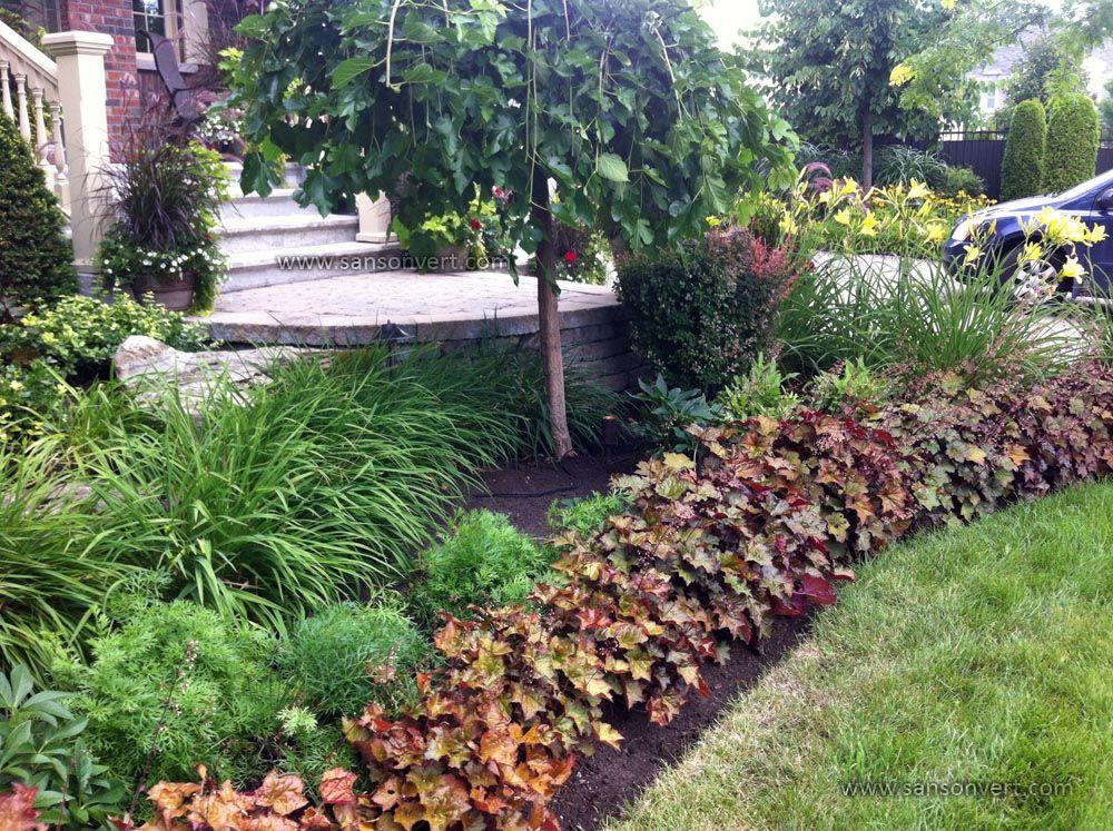 Plates-bandes en façade de maison | Nos réalisations de jardins ...