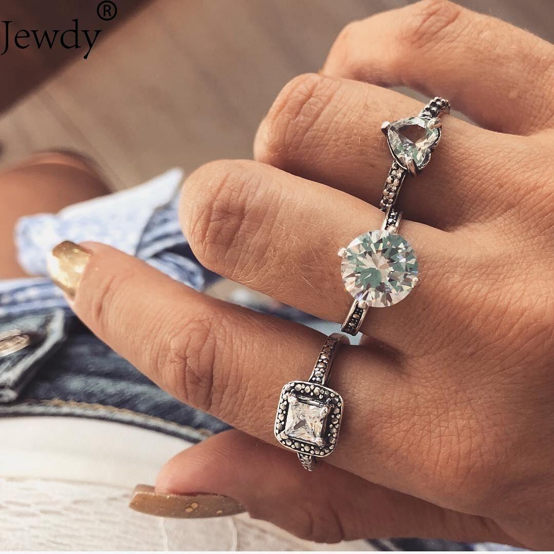 3PCS/ Set bohemian Rings Vintage Knuckle Rings for Women
