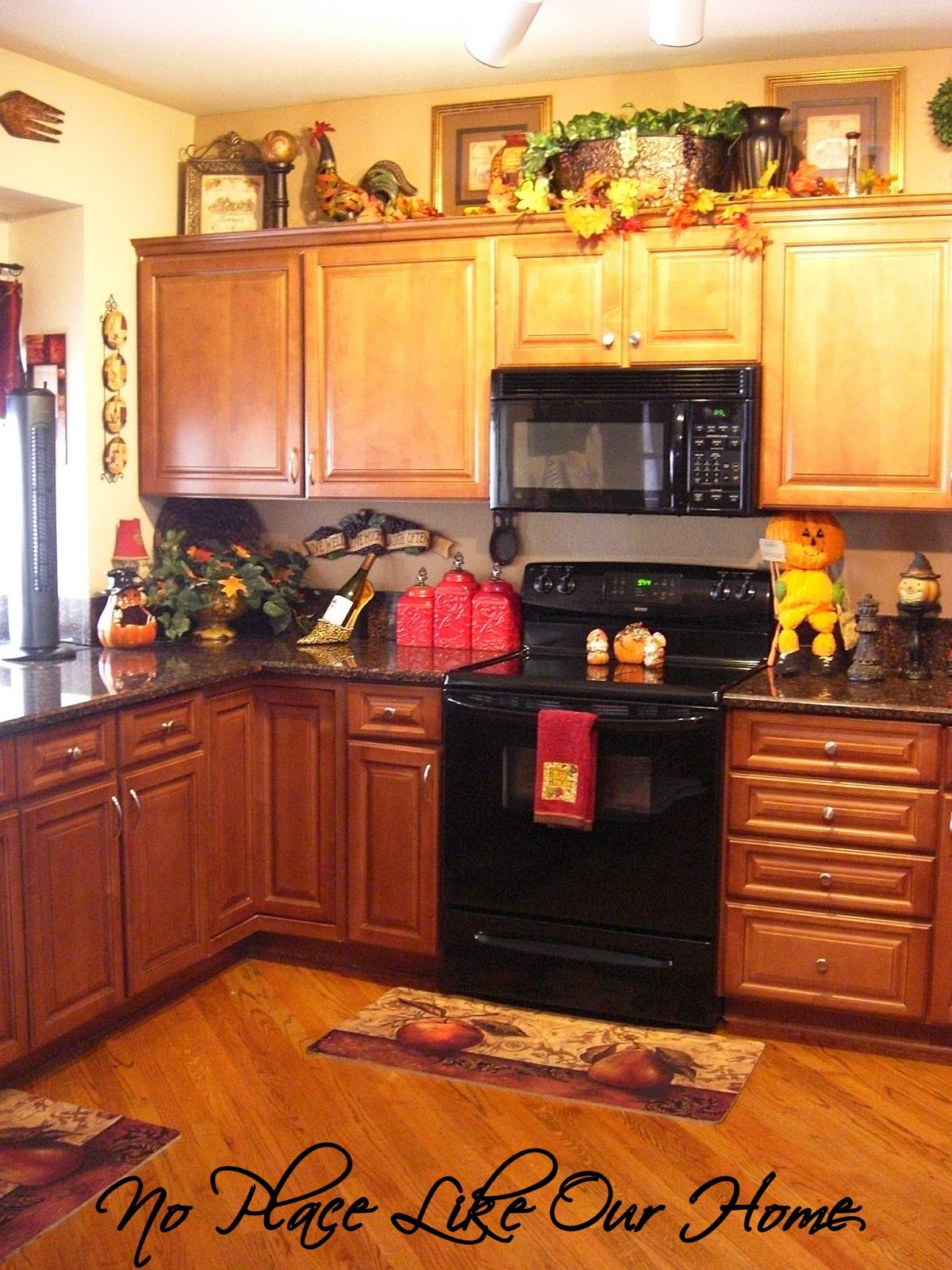 No Place Like Our Home Fall In The Kitchen Kitchen Cabinets
